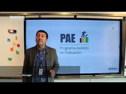 [Actualización] Mejoras en el PAE · Programa Asistido de Evaluación · WebClass