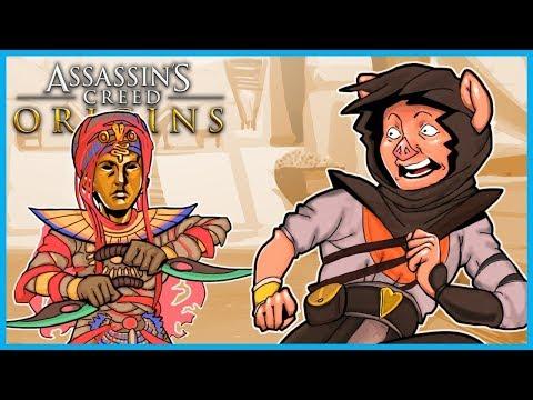 The CURSE of the PHARAOHS in Assassin's Creed Origins! - (AC Origins DLC Funny Adventures)