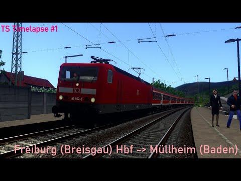 TS Timelapse (again) - Stopping service from Freiburg (Breisgau) Hbf to Müllheim (Baden)  