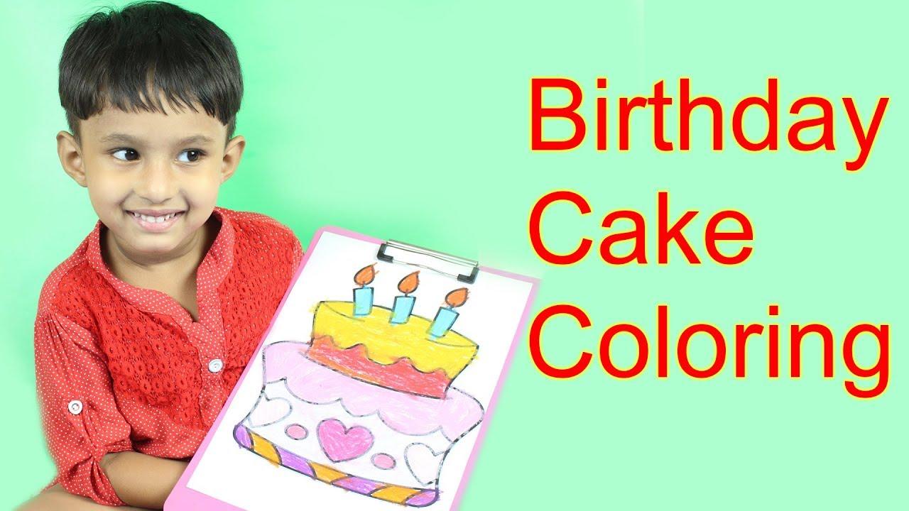 Birthday Cake Drawing - Sweet Cake with Hearts Drawing Birthday Cake ...
