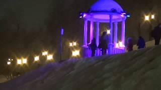 Светомузыкальное вечернее шоу на Пермской набережной ЦветСвет.