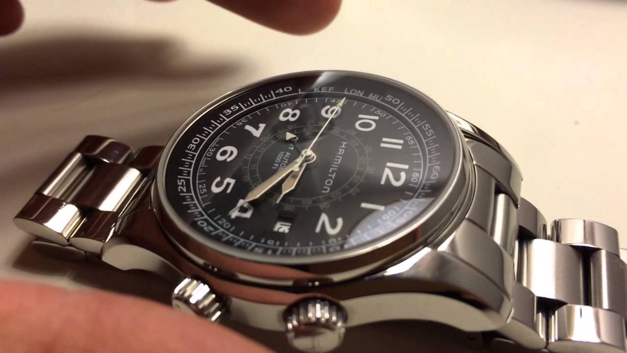 6b48a852c Hamilton UTC GMT skymaster - YouTube