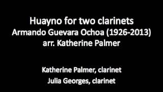 Huayno for two clarinets by Armando Guevara Ochoa