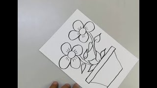 How To Draw A Flower Vase for Kids