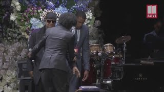 Stevie Wonder pays tribute to Nipsey Hussle during memorial service