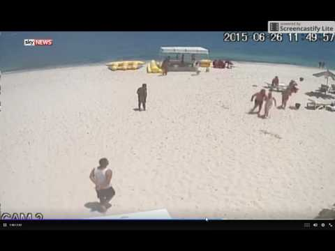 Tunisia Gunman's Rampage and Attack on Beach !!! Rare Footage emerged