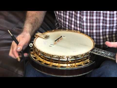 SOLD Monroe Admiral Banjo, Charles plays it electrically special modifications Ebay #111060400837