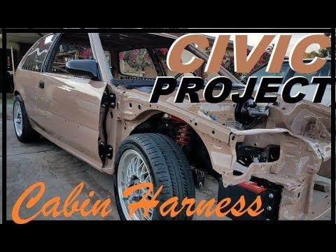 Cabin Harness Install (EF civic project ep.47)