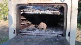 Как сделать классный мангал из старой газовой плиты