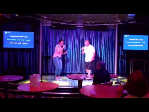 You're the one that I want -Karaoke night Royal Caribbean Allure of the Seas