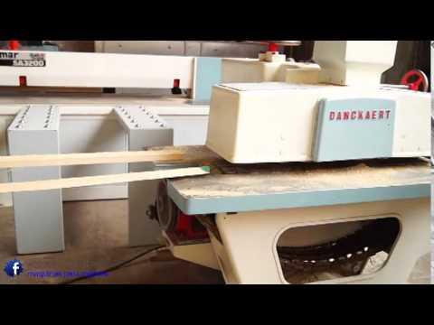 Sierra m ltiple danckaert maquinas para madera youtube - Sierra para cortar madera ...