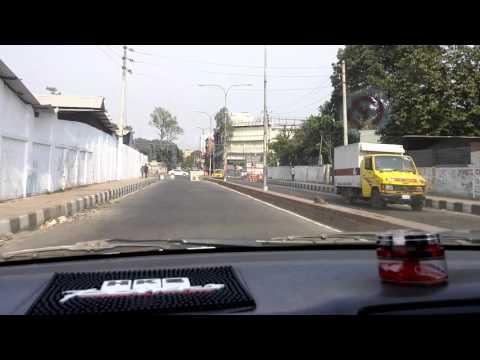 Driving from Bijoy Sarani towards Tejgaon flyover onto Mohakhali