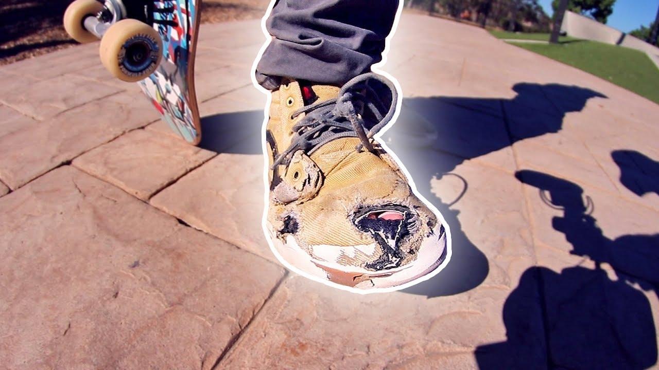 Braille Skateboarding Attempts To Skate A Glass Skateboard ...