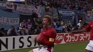 Beckham Penalty v Argentina WC 2002 (HQ)