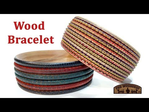 Woodturning Wood Bracelet | Wood Texturing | Wood Dying | Carl Jacobson