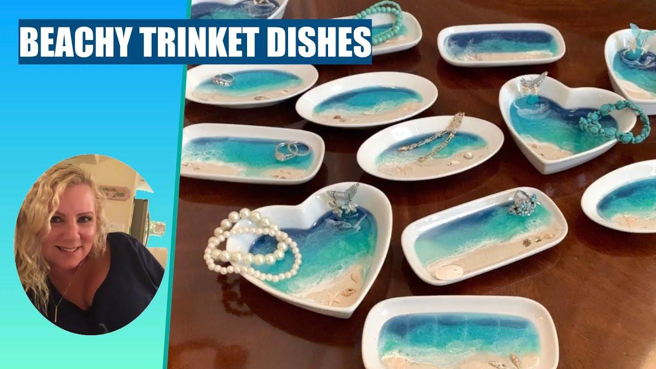 Jewelry trinket dish Resin art