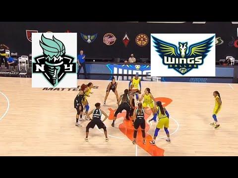 WNBA New York Liberty vs Dallas Wings Basketball Game Highlights July 29 2020