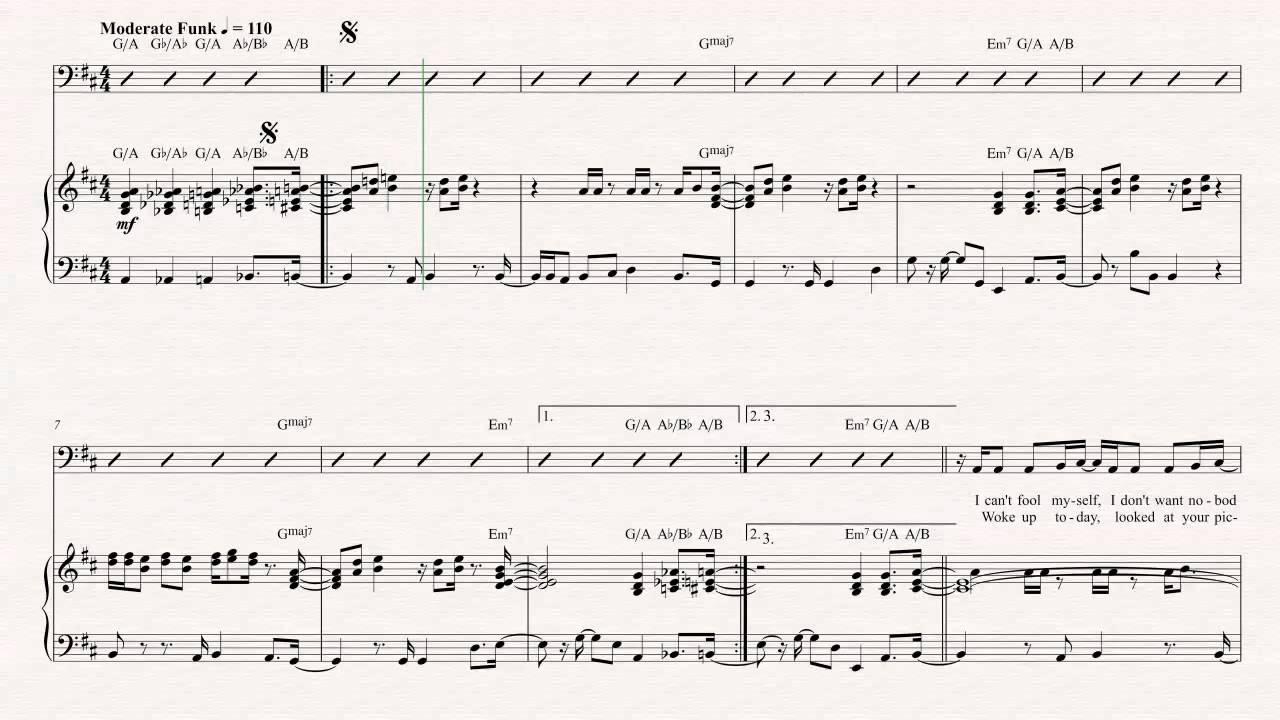 Bass Never Too Much Luther Vandross Sheet Music Chords