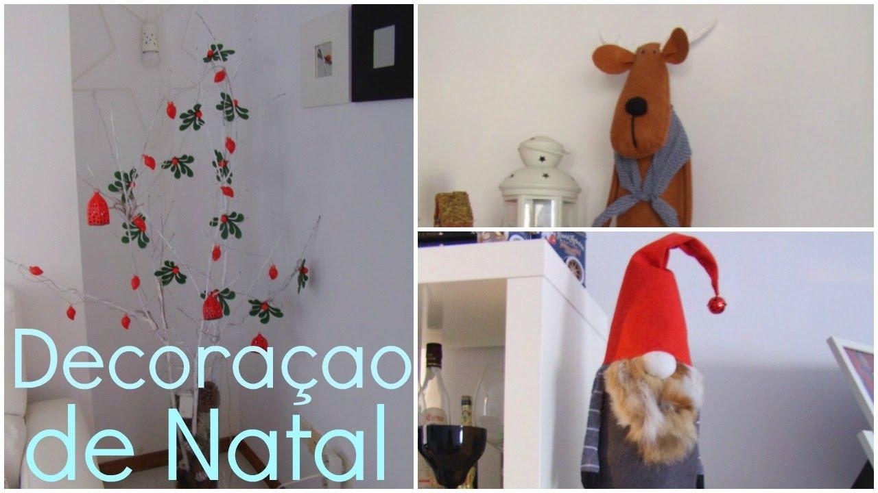 Minha decora ao de natal decoraci n navide a de mi casa - Decoracion navidena de casas ...