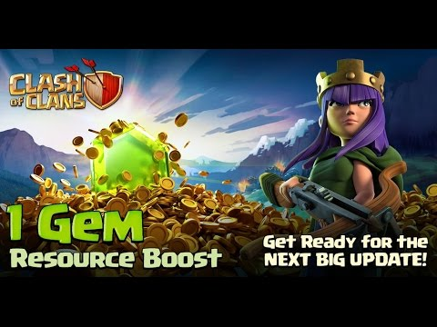 Double Your Resource Production | Boost Resource Collectors Only For 1Gem Each | Clash Of Clans  Coc