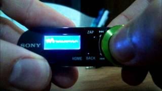 Unboxing: Sony Walkman série B nwz-162