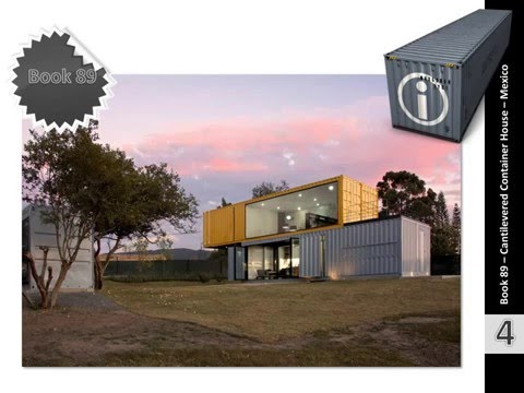 Shipping Container Homes Book 89  - 1291 sqft Cantilevered Container House – Mexico