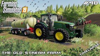 Slurry spreading & seeding | Animals on The Old Stream Farm | Farming Simulator 19 | Episode 48