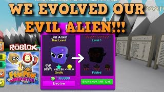 We evolved our Evil Alien in Roblox game Pew Pew Simulator