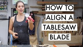 How to Align your Table Saw Blade // Woodshop Tips