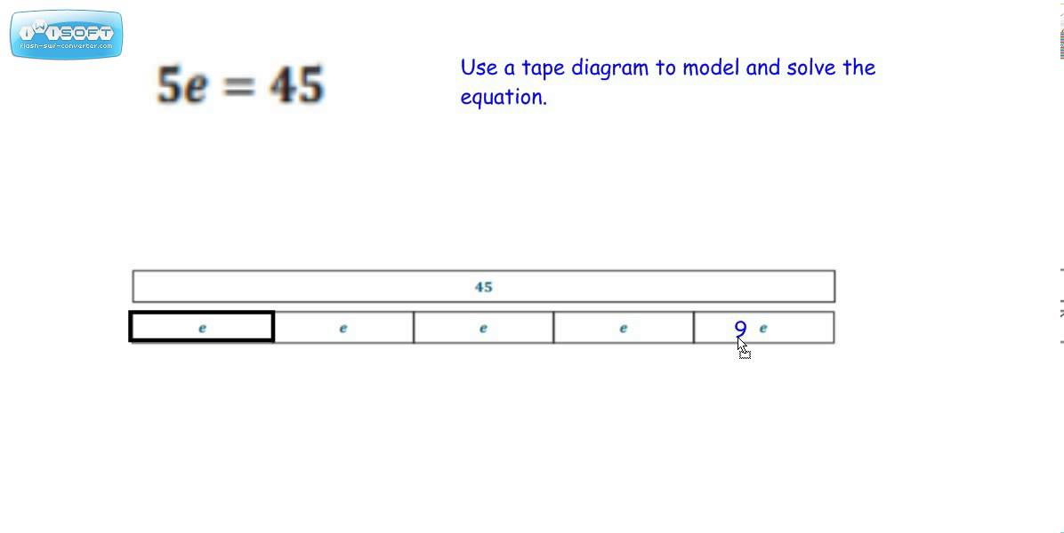 Tape Diagram to Model Multiplication and Division Equations - YouTube