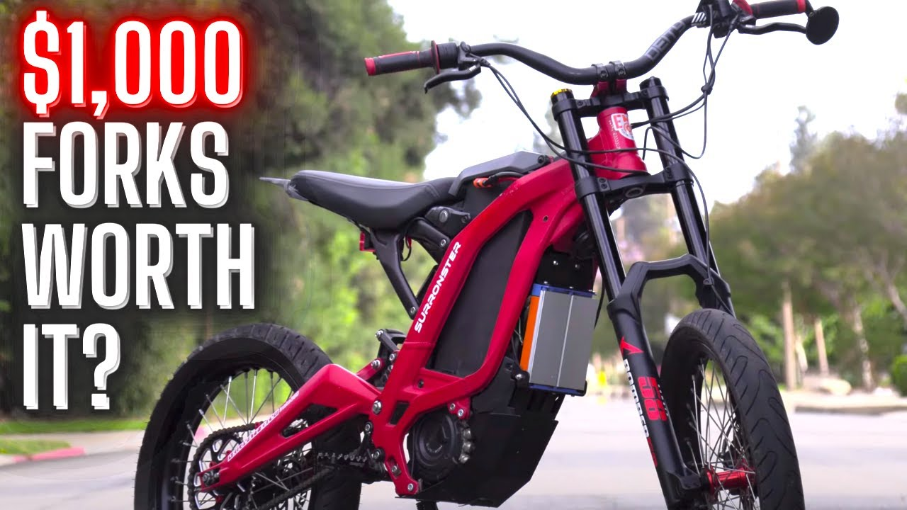 $1,000 Fork Review // Marzocchi Bomber 58 // Sur Ron Suspension Upgrade