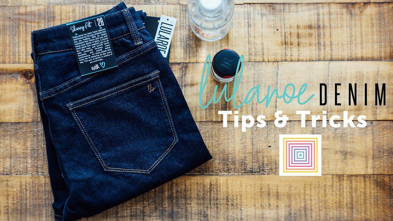 New LuLaRoe Womens Skinny Fit Lycra Denim Jeans Size 40 Dark Wash Blue