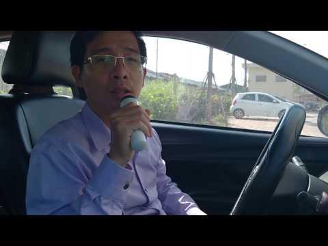 Trên miệng Mic hát Karaoke trên xe hơi MF003 chính hãng KI