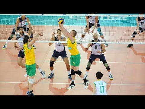 USA vs Australia - 2016 World League -  ALL ACTION NO BREAKS 25 June 2016 Pool E1