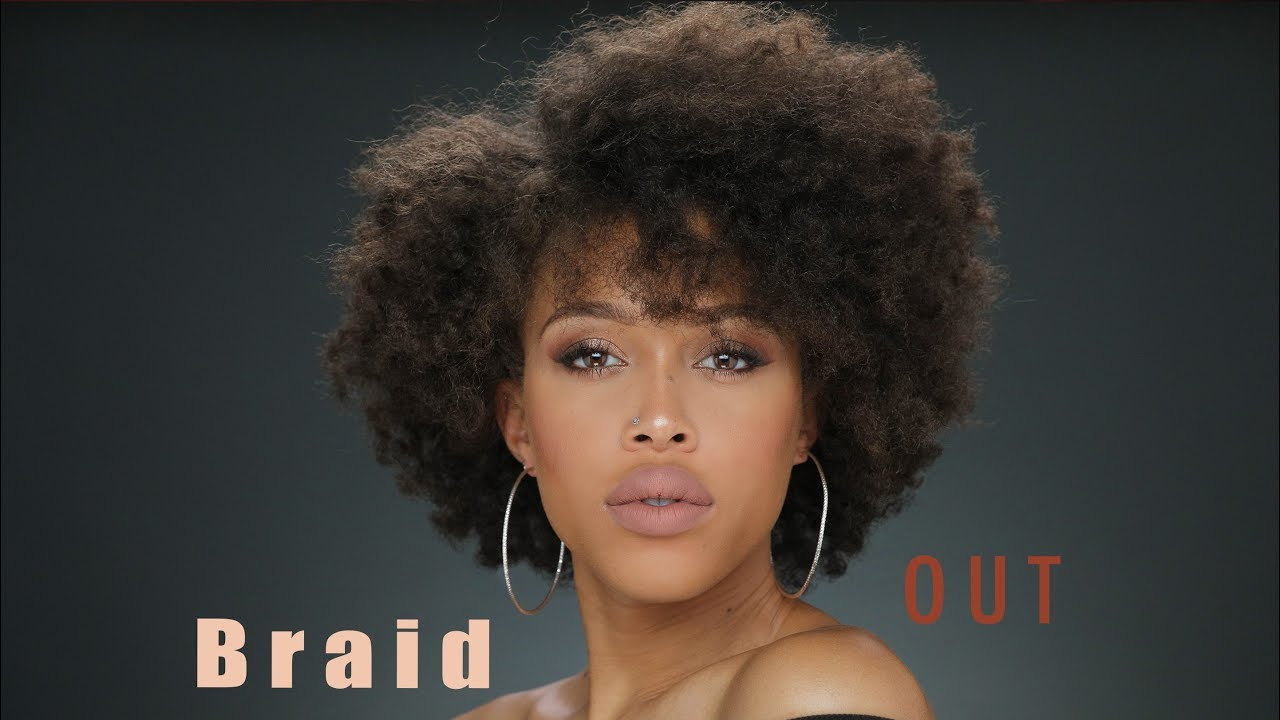 How To Braid Out On Short Hair Youtube