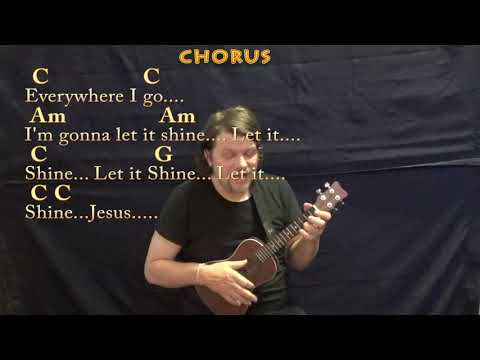 This Little Light Of Mine (Spiritual) Ukulele Cover Lesson In C With Chords/Lyrics