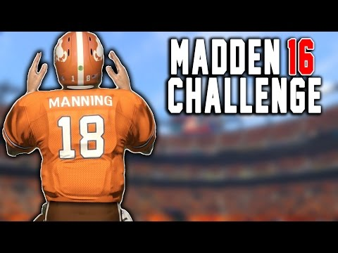 Brady To Manning! Manning To Brady! Peyton Manning The RB #11 - Madden 16 NFL Career Challenge