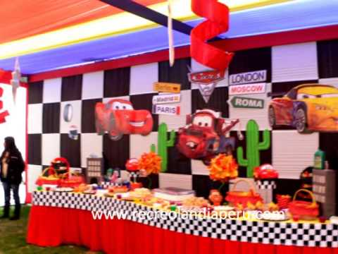 Decoraci n cars youtube for Imagenes decoracion fiestas infantiles