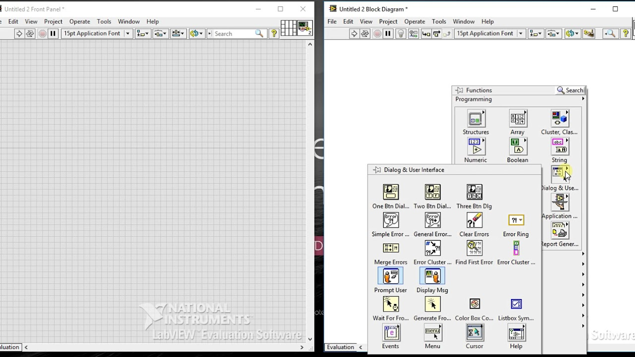 Labview 08 Overview On Block Diagram Tool Palettes Youtube Maker Images
