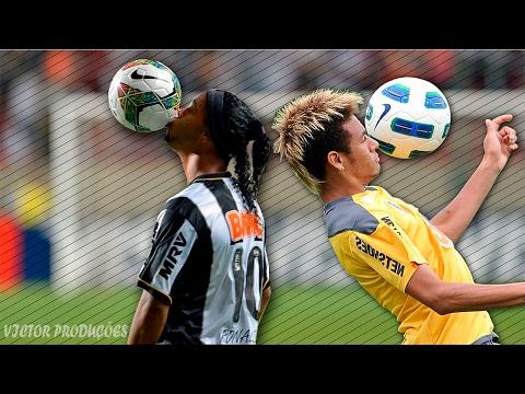 Ronaldinho Gaúcho Vs Neymar Jr. ● BATALHA DE GOLS ● Atlético Mineiro ● Santos ● HD