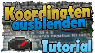 Minecraft Koordinaten ausblenden - 1.8 Tutorial - Debug-Screen einstellen!