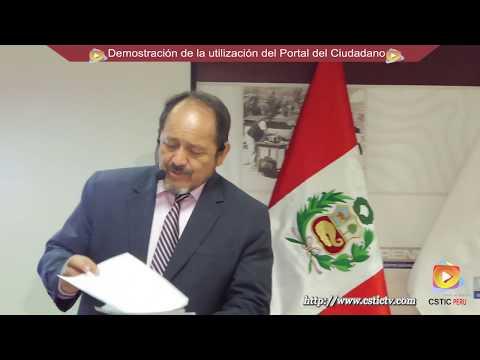 Demostración del uso del Portal del Ciudadano - RENIEC.