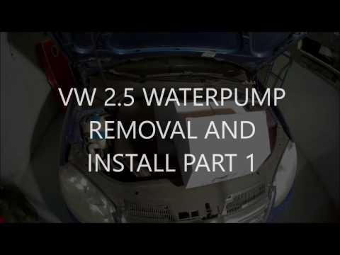 VW MKV 2.5 WATERPUMP REMOVAL AND INSTALL PART 1