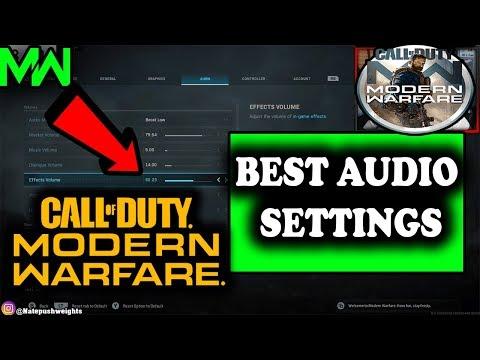BEST AUDIO SETTINGS Modern Warfare MULTIPLAYER (FOOTSTEP AUDIO)