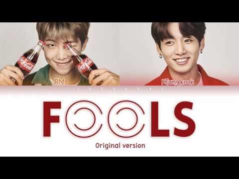BTS JUNGKOOK & RM - FOOLS (Original Ver.) LYRICS (Color Coded Eng)