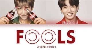 BTS JUNGKOOK RM FOOLS Original Ver LYRICS Color Coded Eng