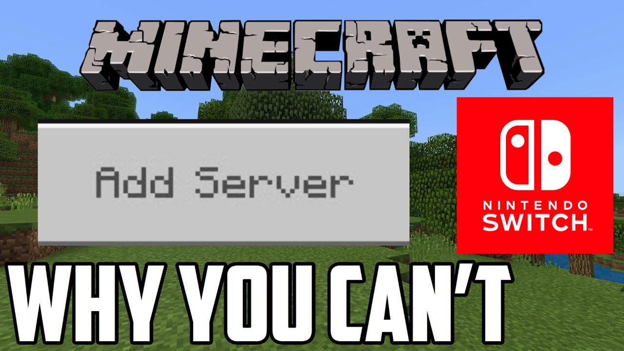 Why You Can't Add Servers In Minecraft Switch