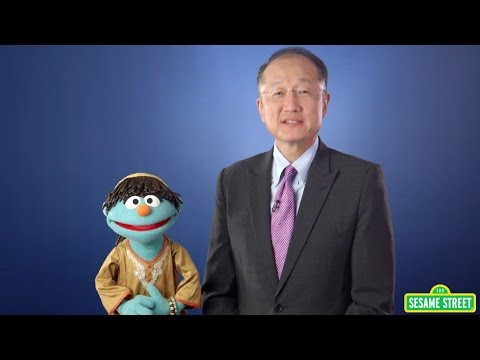 Sesame Street Muppet Talks Potty with World Bank Group President