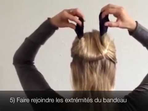 tuto 3 chignon demi queue sur soi m me cheveux mi longs youtube. Black Bedroom Furniture Sets. Home Design Ideas