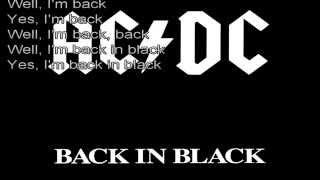 ACDC-Back In Black(Lyrics)
